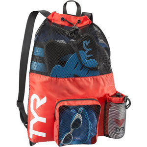 TYR Men's Big Mesh Mummy Backpack Red