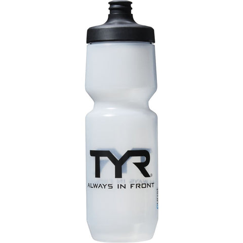 TYR Men's Purist Cycling Water Bottle Clear