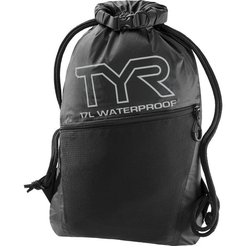 TYR Men's Alliance Waterproof Sackpack Black