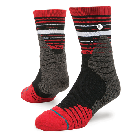 Stance Men's Trey Qtr Sock, Red