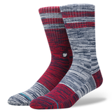 Stance Men's Nationals Greystone Sock, Red