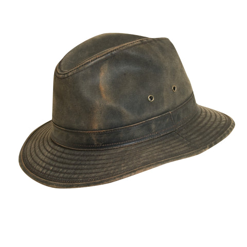 Dorfman Pacific Men's Weathered Cotton Safari Hats Brown