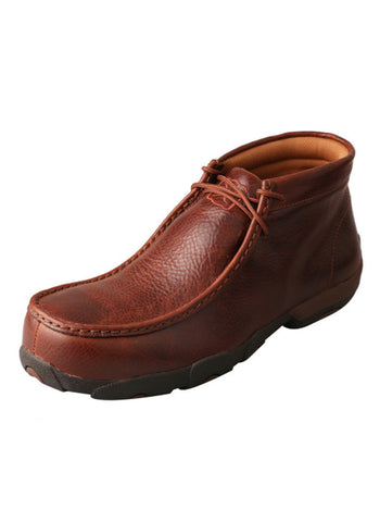 Twisted X Men's Driving Moccasins Cognac Glazed Pebble