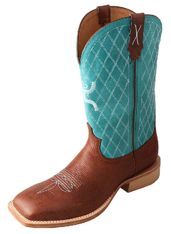 Twisted X Men's Hooey Boot Cognac/Turquoise