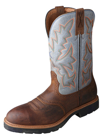 Twisted X Men's Cowboy Workboot Cognac/Denim