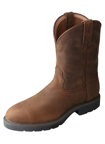 Twisted X Men's Work Boot Distressed Saddle