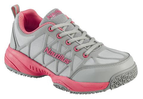 Nautilus 2155 Women's Comp Toe Light Weight Slip Resistant Safety Toe Athletic
