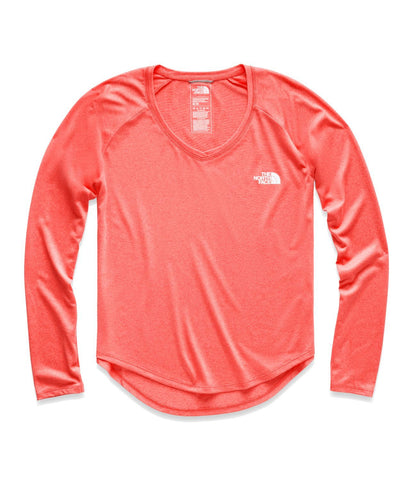440b50106de Spiced Coral Heather TNF White. The North Face Women s Long-Sleeve Reaxion  Amp Tee