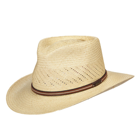 Scala Panama Men's Vent Panama Outback Hats Natural