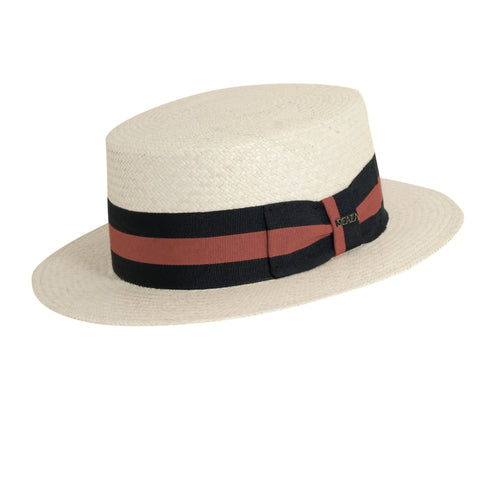 Scala Panama Men's Panama Skimmer Hats Natural