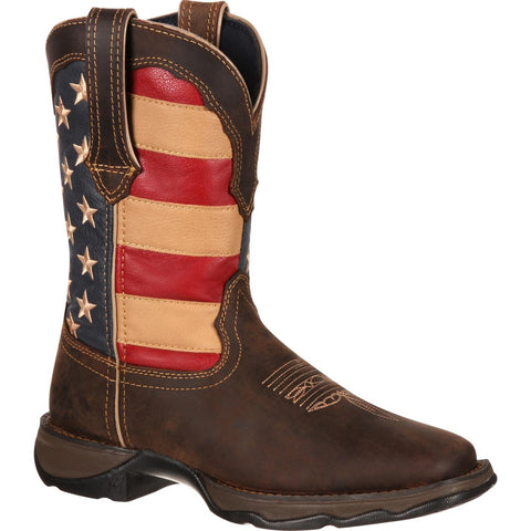 Durango Women's Rebel By Durango Patriotic Pull-On Western Flag Boot