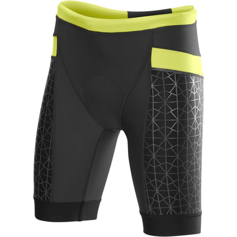 "TYR Women's 8"" Competitor Tri Short Black/Lime"