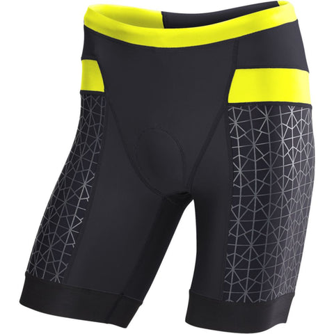 "TYR Men's 9"" Competitor Tri Short Black/Lime"
