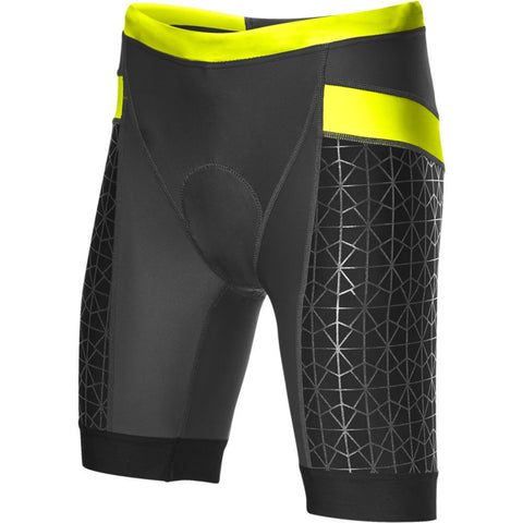 "TYR Women's 6"" Competitor Tri Short Black/Lime"