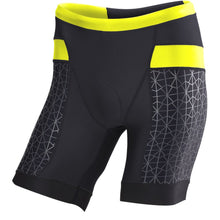 "Load image into Gallery viewer, TYR Men's 7"" Competitor Tri Short Black/Lime"