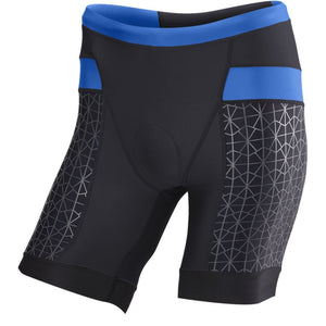 "TYR Men's 7"" Competitor Tri Short Black/Blue"