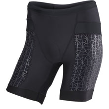 "Load image into Gallery viewer, TYR Men's 7"" Competitor Tri Short Black/Black"