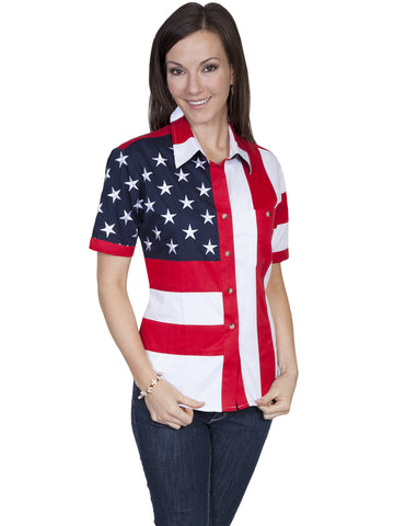 Scully RW029X-RED Women's Pullover Shirt