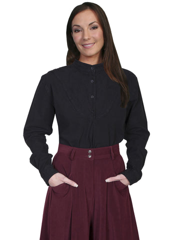 Scully RW578 Women's Embroidered Inset Bib Shirt