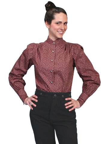 Scully RW592 Women's Foral Ranch Style Blouse