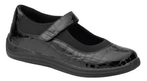 Drew Shoes Womens Rose Mary Jane Flats - Black (Med)