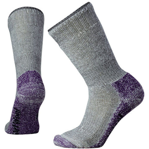 Smartwool Women's Mountaineering Extra Heavy Crew Socks Medium Gray/Mountain Purple