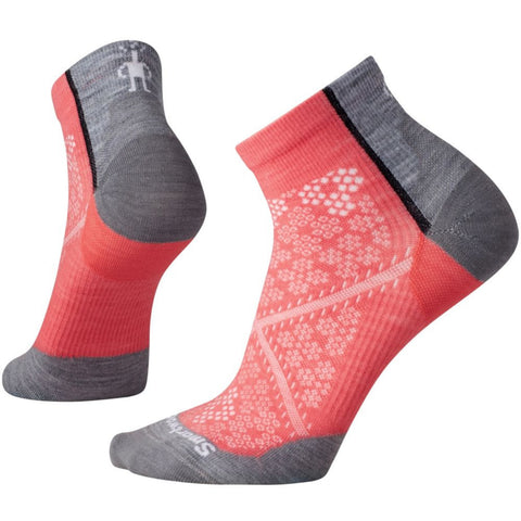 Smartwool Women's PhD® Cycle Ultra Light Low Cut Socks Bright Coral