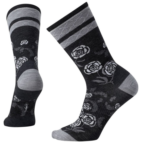 Smartwool Women's Rosey Posey Crew Socks Charcoal Heather