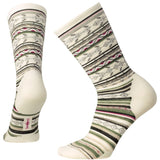 Smartwool Women's Ethno Graphic Crew Socks Natural Stripe