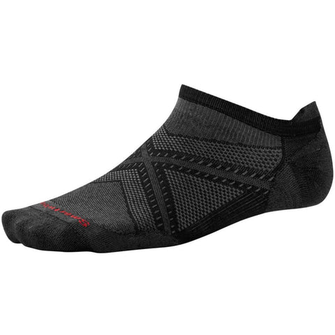 Smartwool Men's PhD® Run Ultra Light Micro Socks Black/Black