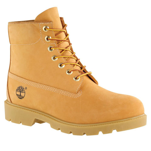 "Timberland Mens Icon 6"" Basic Boot, Wheat Nubuck"