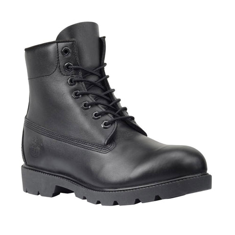 "Timberland Mens Icon 6"" Basic Boot Black Smooth"