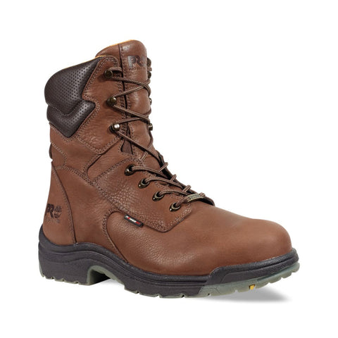 "Timberland PRO Men's 8"" TiTAN Safety Toe Waterproof Boot Brown"