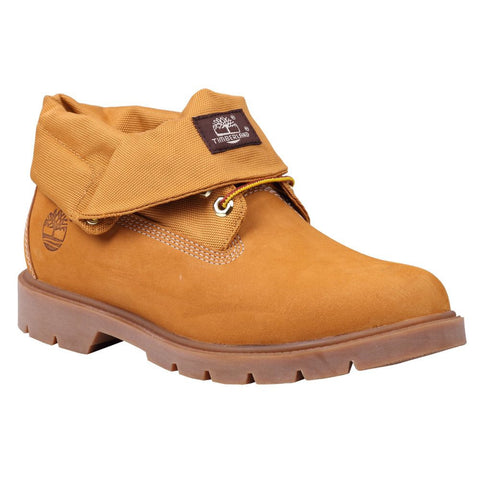 Timberland Mens Icon Basic Roll-Top Fabric Boot Wheat Nubuck