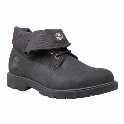 Timberland Mens Icon Basic Roll-Top Fabric Boot Black Nubuck