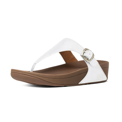 Fitflop Women's The Skinny™ Leather Toe-Thong Sandals Urban White