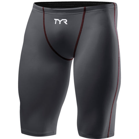 TYR Men's Thresher™ Jammer Swimsuit Grey/Red