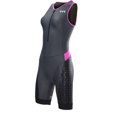TYR Women's Competitor Tri suit Grey/Pink