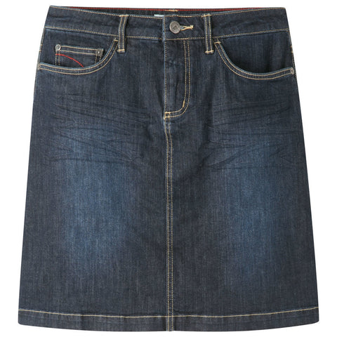 Mountain Khakis Women's Genevieve Jean Skirt Classic Fit - Dark Wash