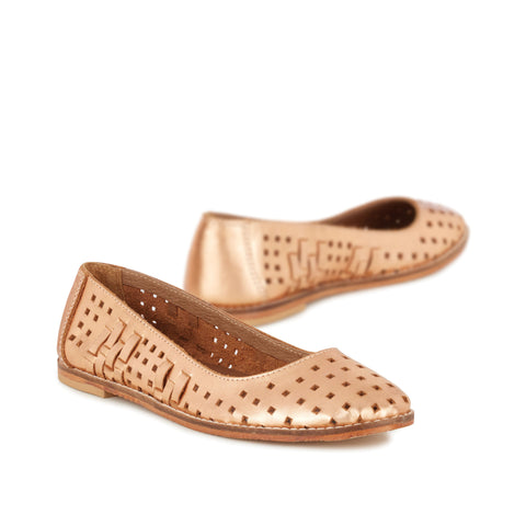 EMU Australia Women's Lymwood Flat, Rose Gold