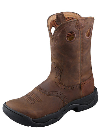 Twisted X Women's All Around Boot Distressed Saddle/Distressed