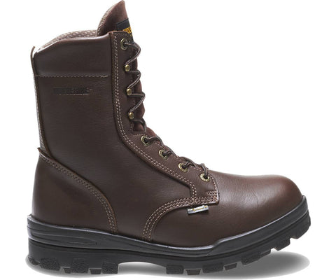 "Wolverine Men's Durashocks® Steel-Toe Waterproof EH 8"" Work Boot - Brown"