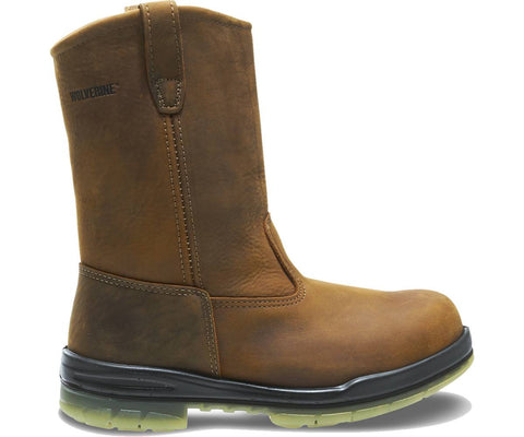 "Wolverine Men's Durashocks® Steel-Toe Insulated Waterproof 10"" Wellington Work Boot - Malt"