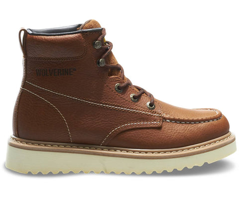 "Wolverine Men's Moc-Toe 6"" Work Boot - Brown"