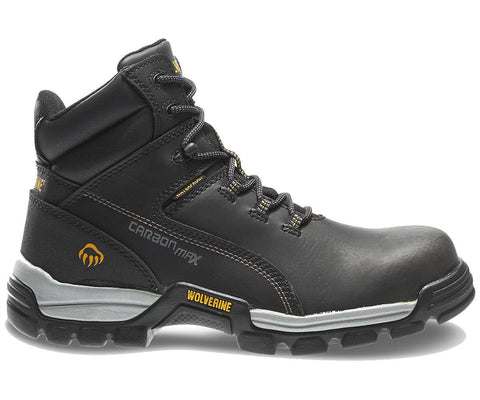 "Wolverine Men's Tarmac Waterproof Reflective Composite-Toe EH 6"" Work Boot - Black"