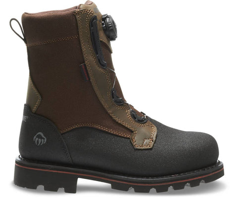 "Wolverine Men's Drillbit Oil Rigger Waterproof Boa Steel-Toe EH 8"" Work Boot - Real Brown"