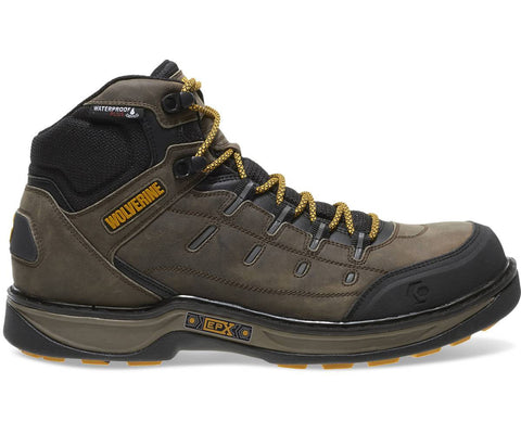 Wolverine Men's Edge LX EPX™ Waterproof Work Boot - Taupe/Yellow
