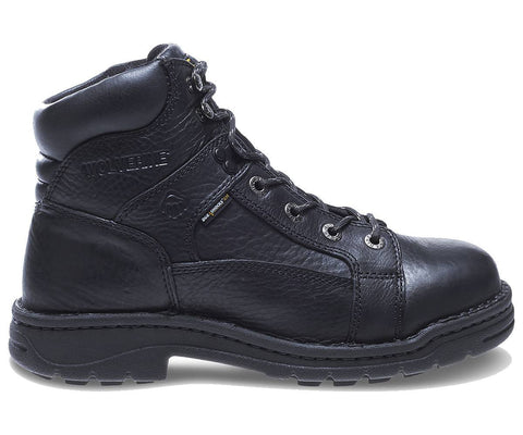 "Wolverine Men's Exert Durashocks® Steel-Toe EH Lace To Toe Opanka 6"" Work Boot - Black"