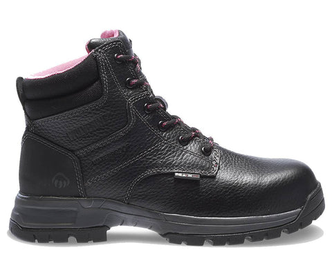 "Wolverine Women's Piper Waterproof Composite-Toe EH 6"" Work Boot - Black"