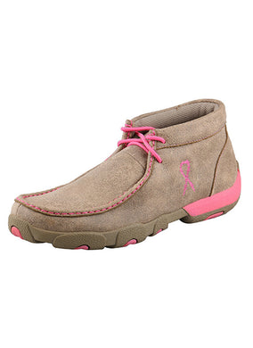 Twisted X Women's Driving Moccasin Dusty Tan/Pink